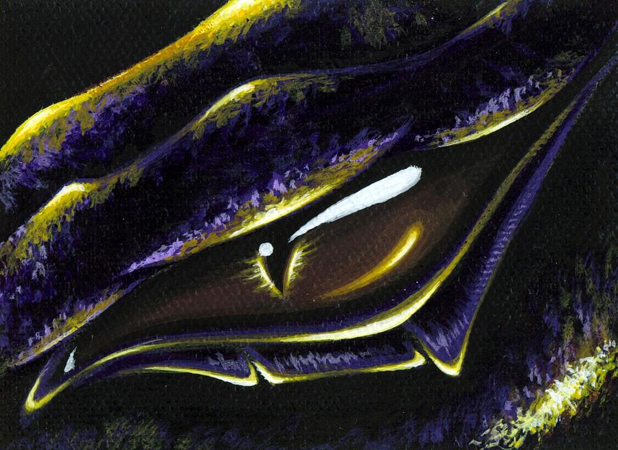 Dragon Eye Painting - Eye Of Ametrine by Elaina  Wagner