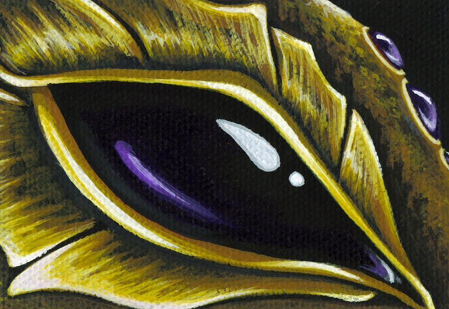 Amethyst Painting - Eye Of Deep Amethyst by Elaina  Wagner