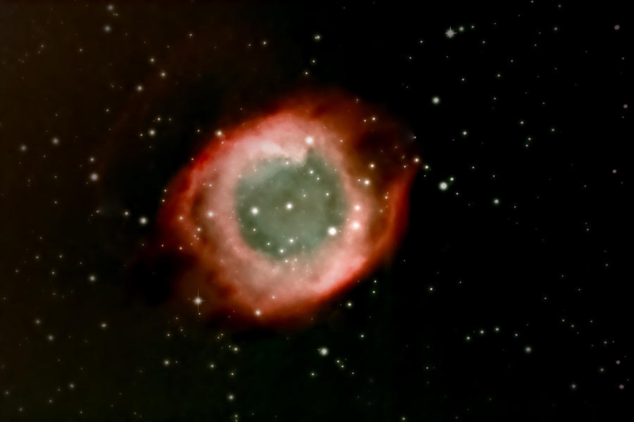 Astrophotography Photograph - Eye Of God Helix Nebula by Jim DeLillo