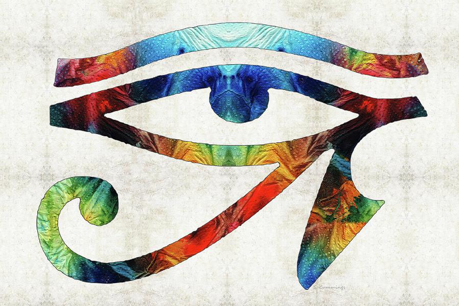 Eye Of Horus Painting - Eye Of Horus - By Sharon Cummings by Sharon Cummings