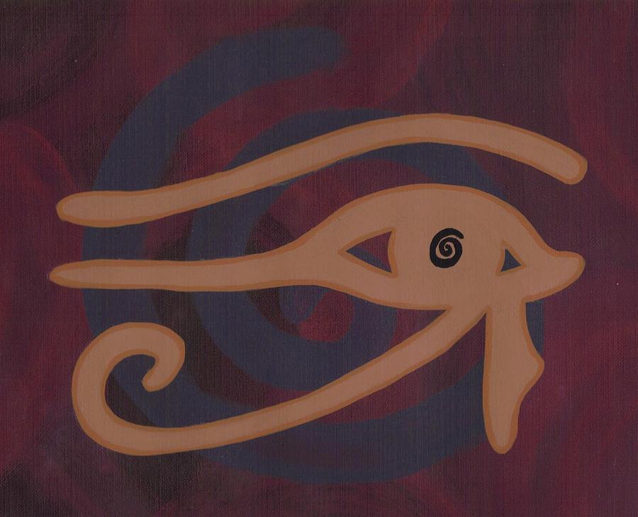 Eye Painting - Eye Of Horus by Jill Christensen