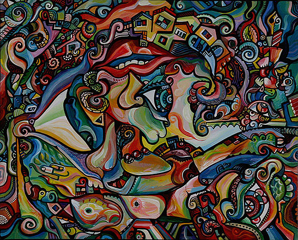 Cubism Painting - Eye Of The Beholder by Alex Arshansky