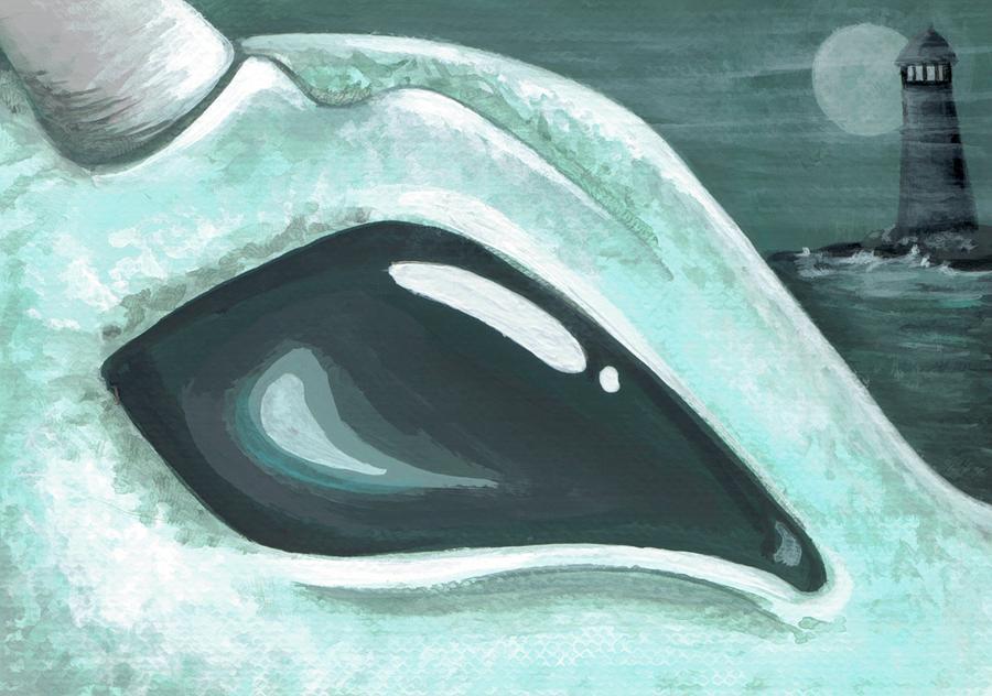 Dragon Painting - Eye Of The Coast Dragon by Elaina  Wagner