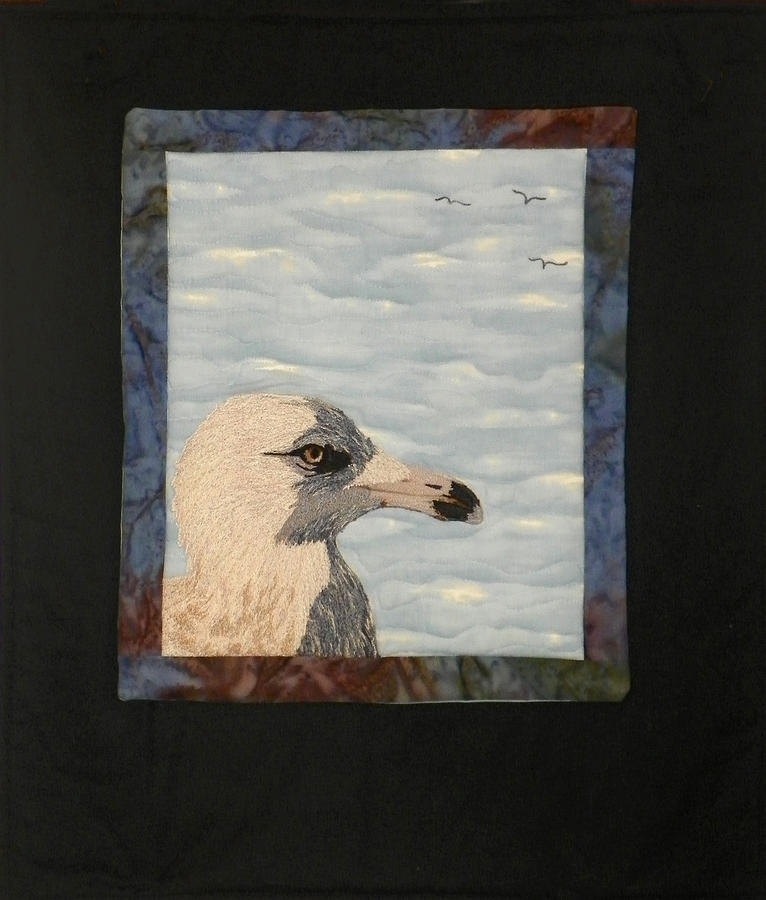 Birds Tapestry - Textile - Eye Of The Gull by Jenny Williams