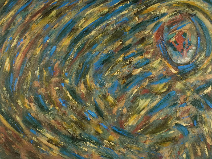 Blue Painting - Eye Of The Storm by Gretchen Dreisbach