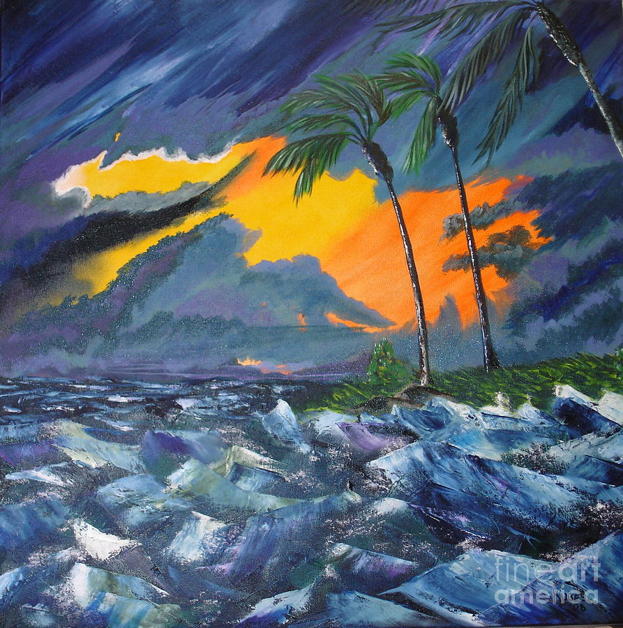 Hurricane Painting - Eye Of The Storm by Susan Kubes