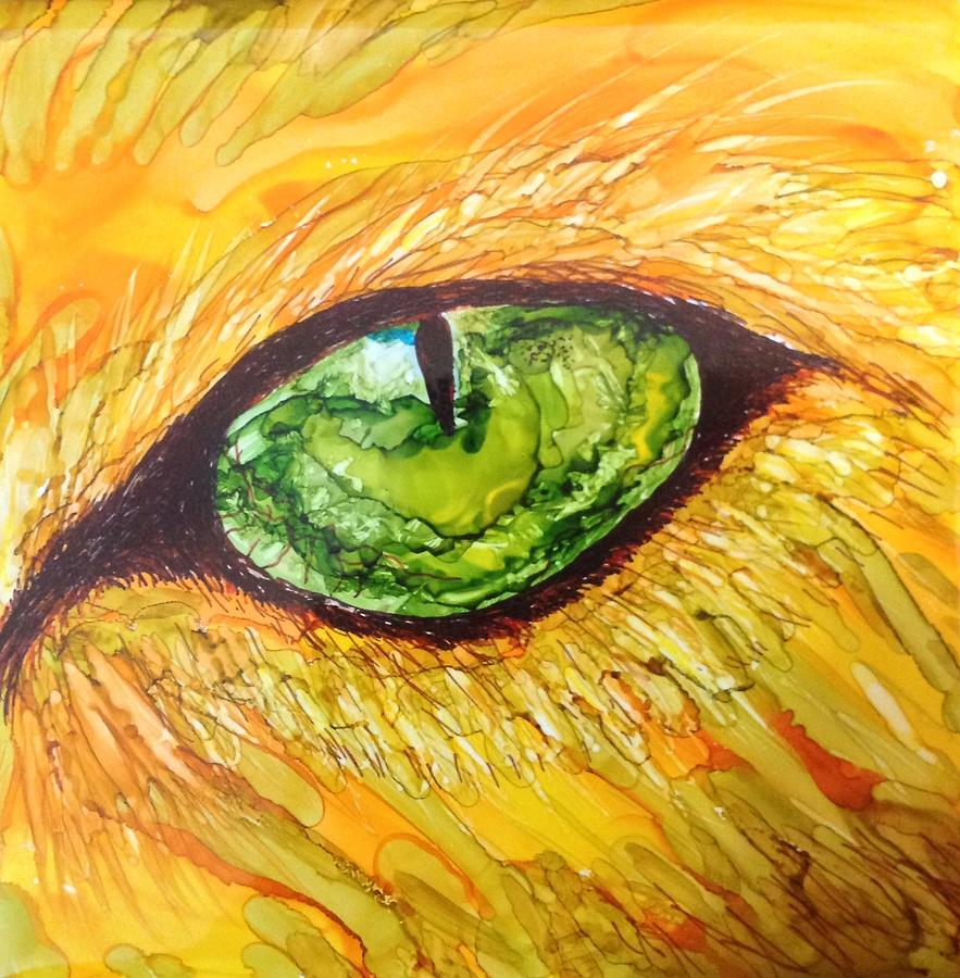 Eye Of The Tiger Painting by Andrea Patton