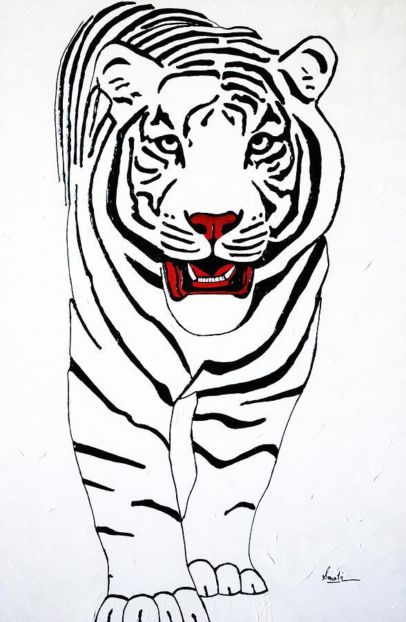 Tiger Painting - Eye Of The Tiger by Sonali Kukreja