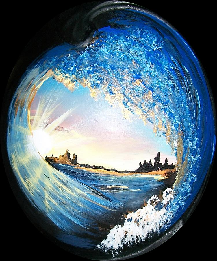 Ocean Painting - Eye Of The Wave by Sharon Duguay