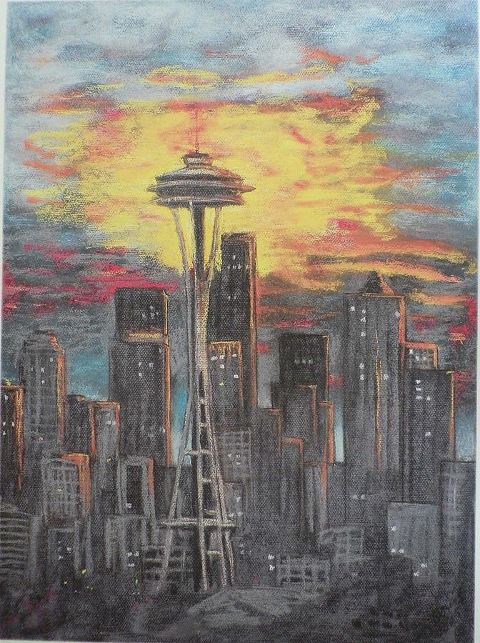 Space Needle Painting - Eye On The Needle by Dan Bozich