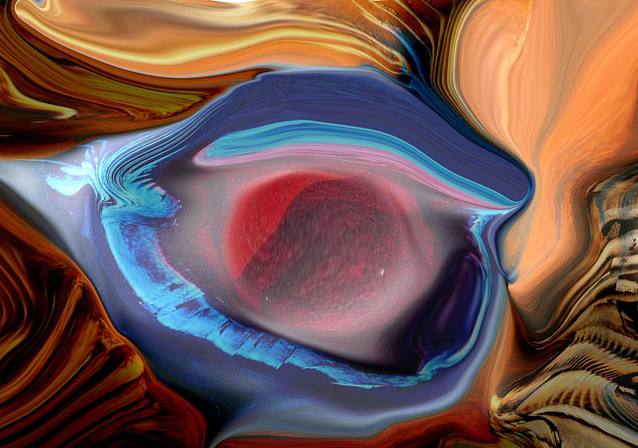 Abstract Digital Art - Eye Rate Psp by Blake McArthur