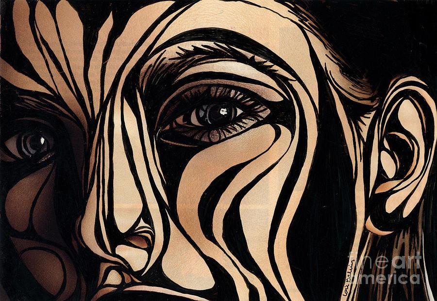 Woman Mixed Media - Eye Spy by Lorrie Galvin