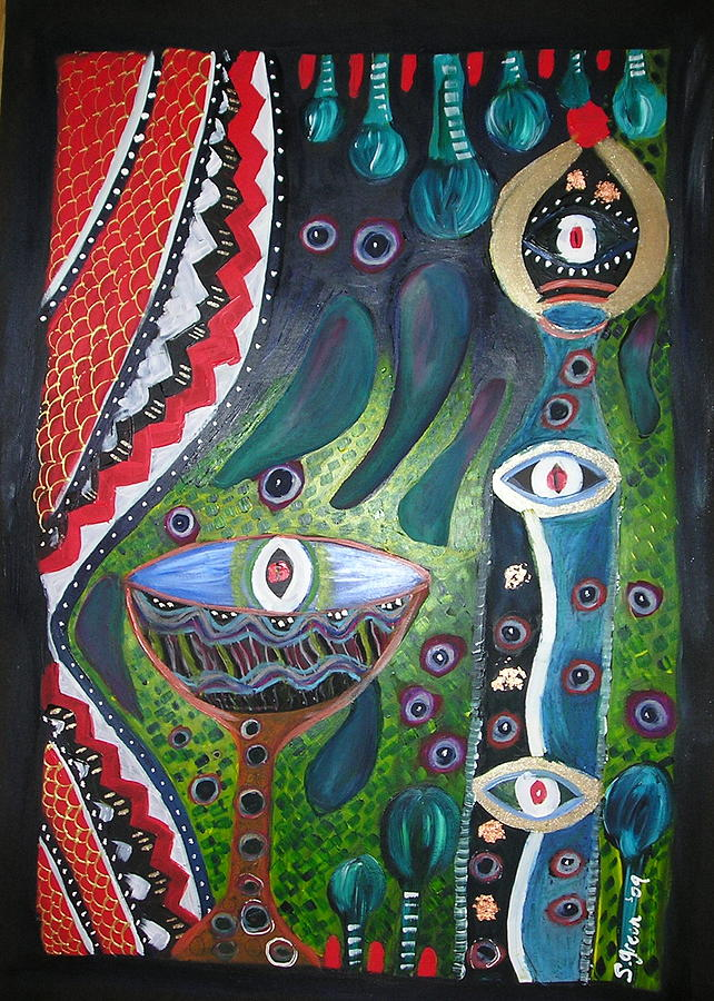Vibrant Mixed Media - Eye Spy by Sher Green