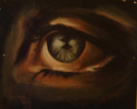 Eye Painting - Eye Study by Angela Baggett