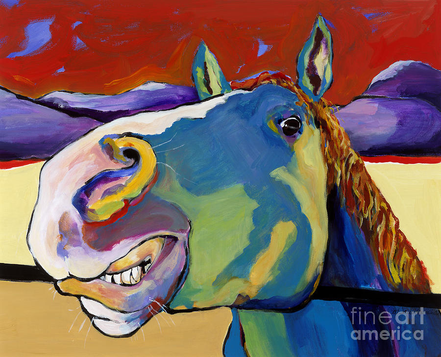 Animal Painting Painting - Eye To Eye by Pat Saunders-White