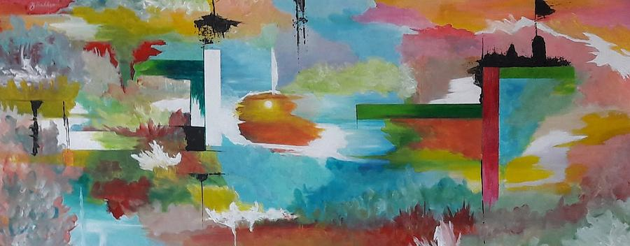 Abstract Painting - Eyecatcher  by Jan Gerard Bakker