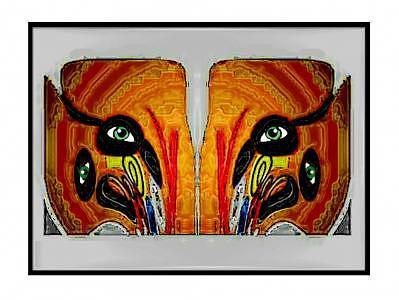 Eyes Digital Art - Eyes by Aline Pottier  Gama Duarte