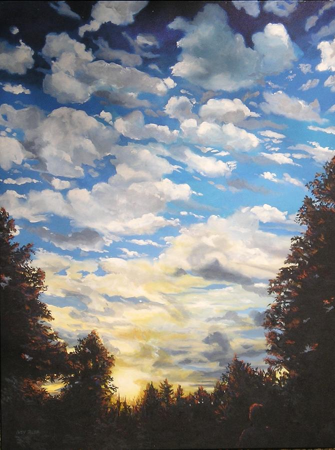 Sky Painting - Eyes Lifted Up by Denise Ivey Telep