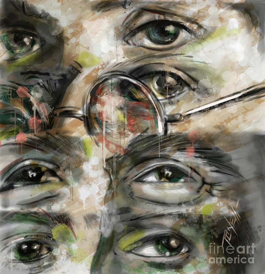 The Beatles Eyes Mixed Media