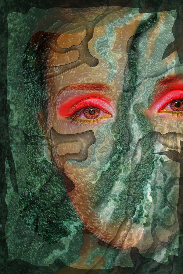 Eyes Without A Face Digital Art - Eyes Of Emerald by Tim Thomas