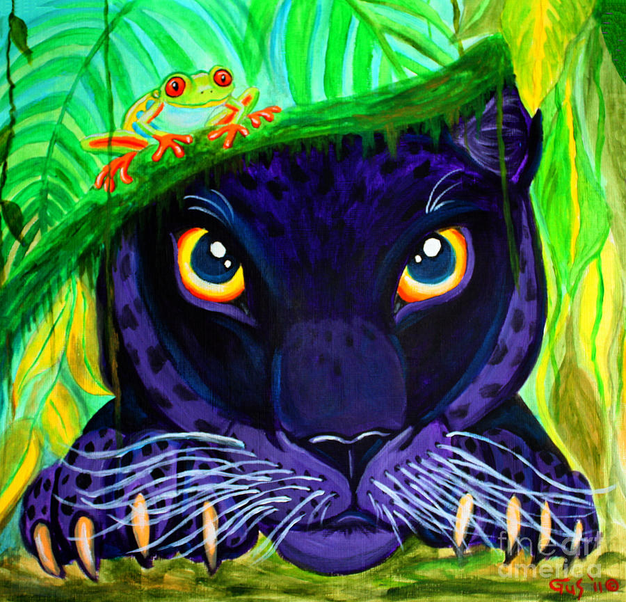 Eyes Of The Rainforest Painting By Nick Gustafson