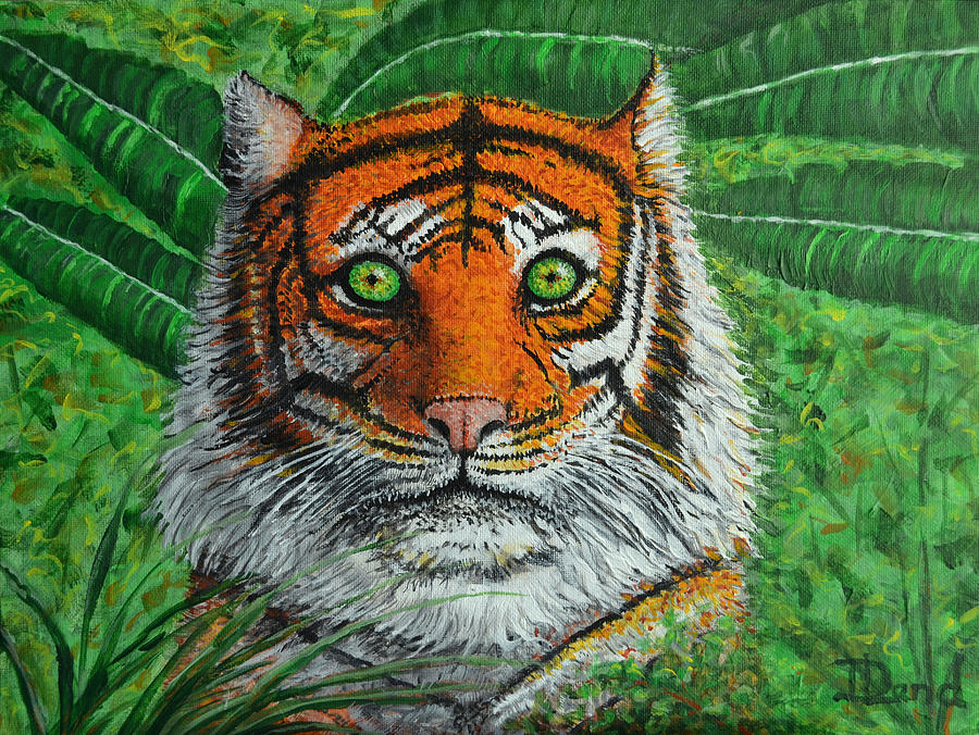 Tiger Painting - Eyes Of The Tiger by David Land