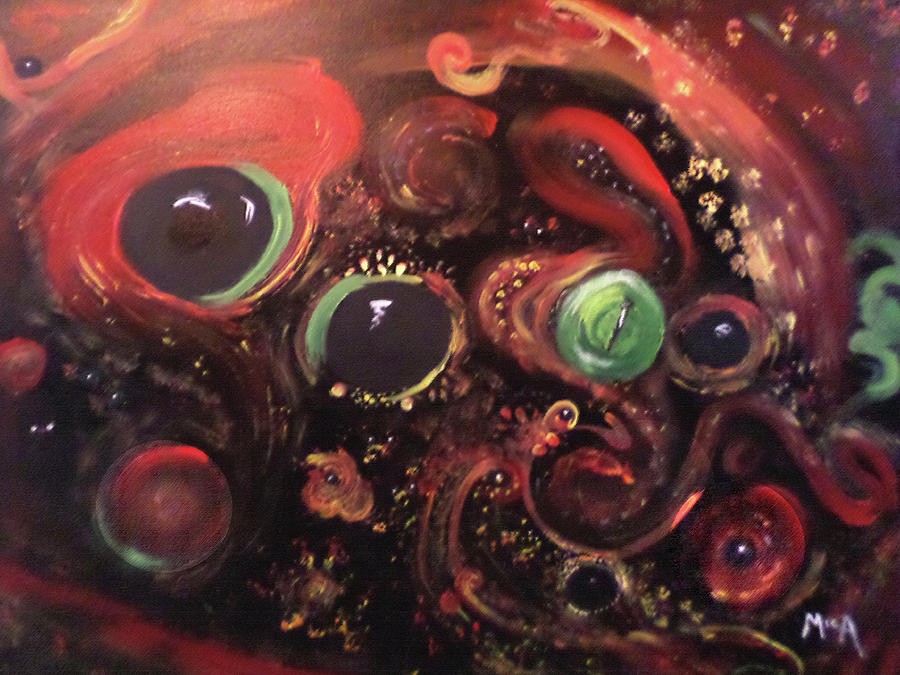Universe Painting - Eyes Of The Universe # 5 by Michelle Audas