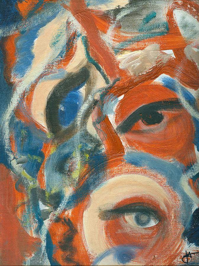 Abstract Eyes Painting - Eyescapation by Jorge Delara