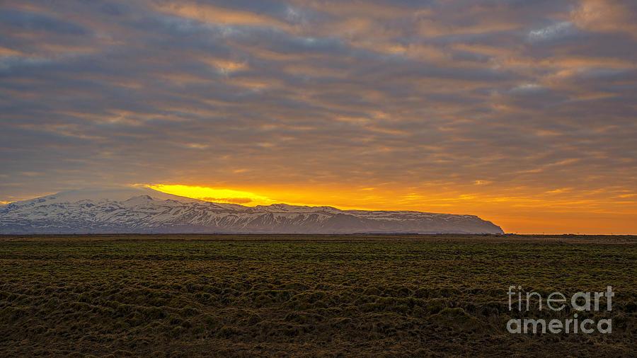 Eyjafjallajokull Sunrise Iceland Photograph
