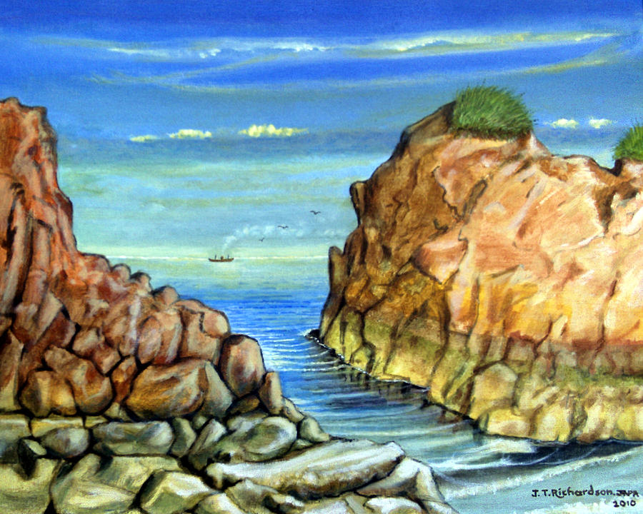 Sea Painting - Eynmouth South East Scotland by James Richardson