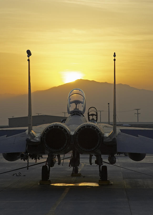 F-15 Photograph - F-15e At Sunrise by Tim Grams