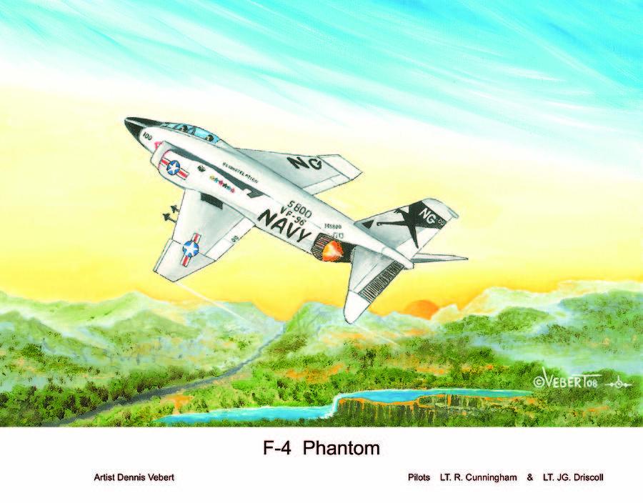 Jet Painting - F-4 Phantom by Dennis Vebert