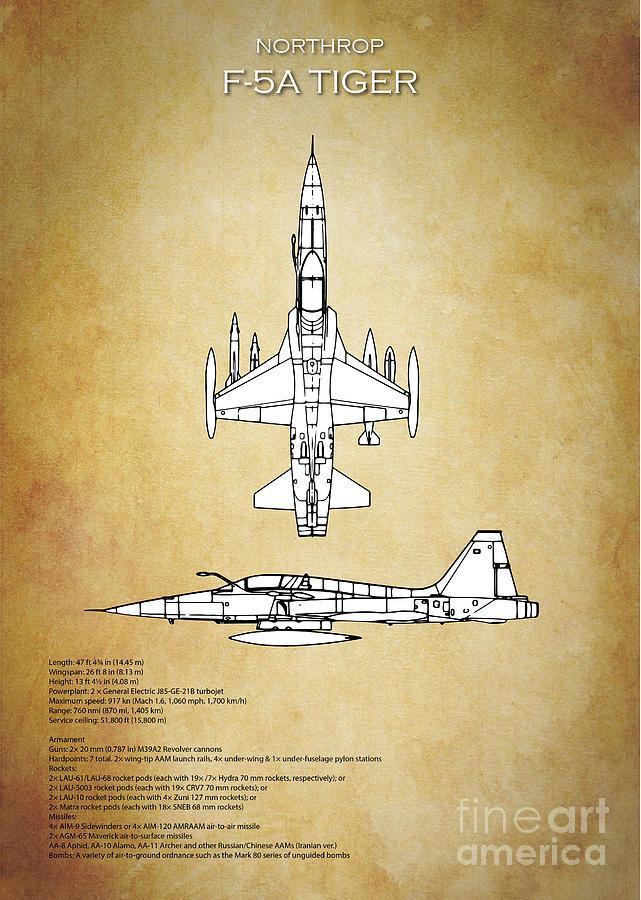 F 5 tiger blueprint digital art by j biggadike f5 digital art f 5 tiger blueprint by j biggadike malvernweather Images