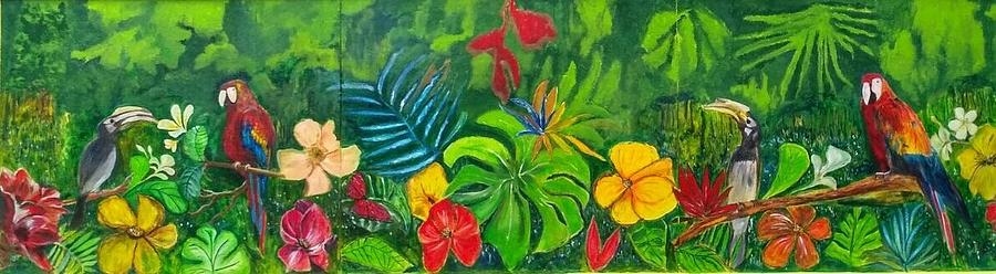 Nature Painting - F E E L S by Belinda Low