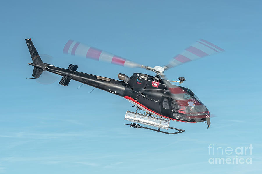 Eurocopter Photograph - F-gsdg Eurocopter As350 Helicopter In Blue Sky  by Roberto Chiartano