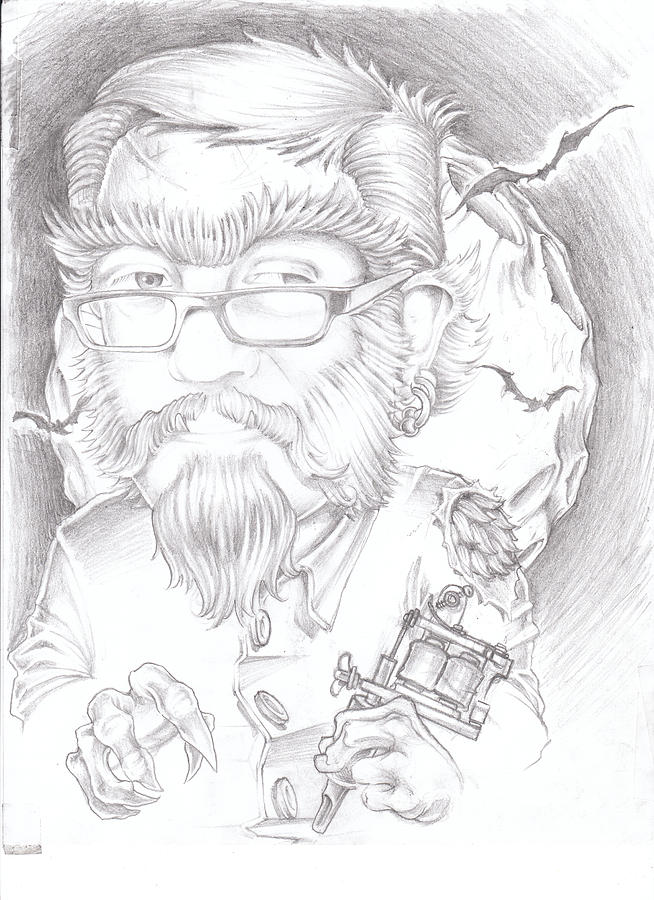 F Drawing by Jared Rice