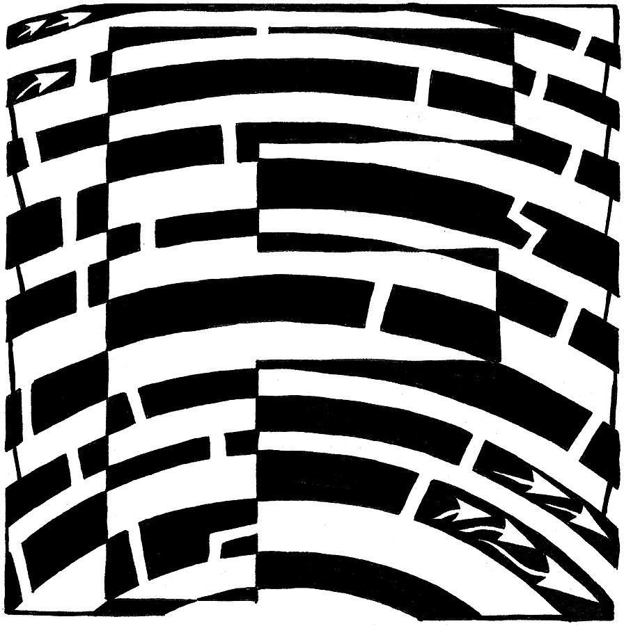 Alphabet Maze Drawing - F Maze by Yonatan Frimer Maze Artist