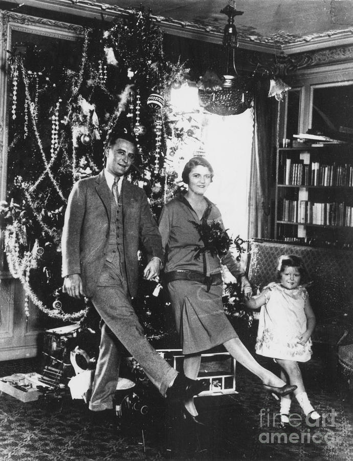 20th Century Photograph - F. Scott Fitzgerald Family by Granger