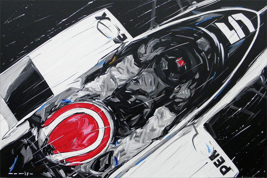Cars Painting - F1 Nelson Piquet Brabham 5 by Roberto Muccilo
