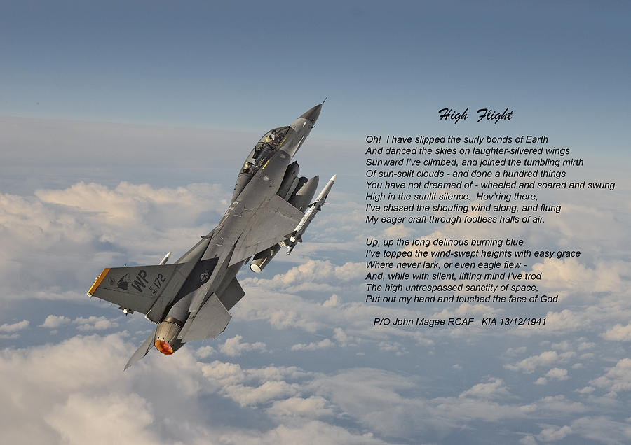 f16 high flight photograph by pat speirs