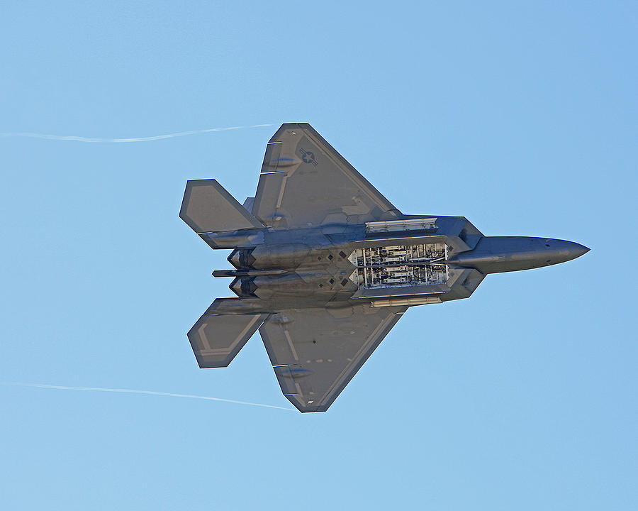 Planes Photograph - F22 Raptor Munitions Bays Open by Dave Clark