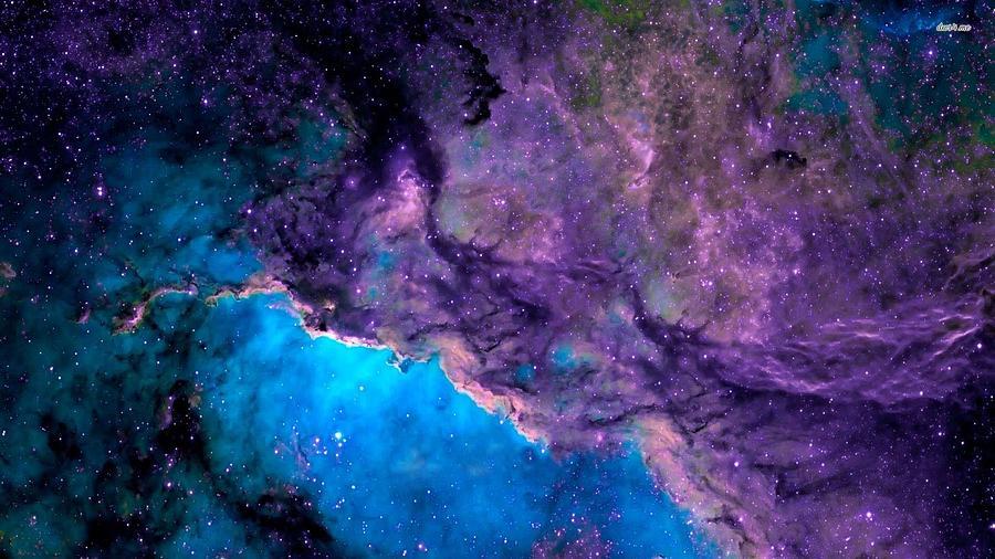 Globe Painting - Purple Nebula by Celestial Images