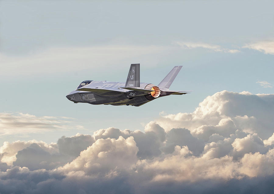 Aircraft Photograph - F35 -  Into The Future by Pat Speirs