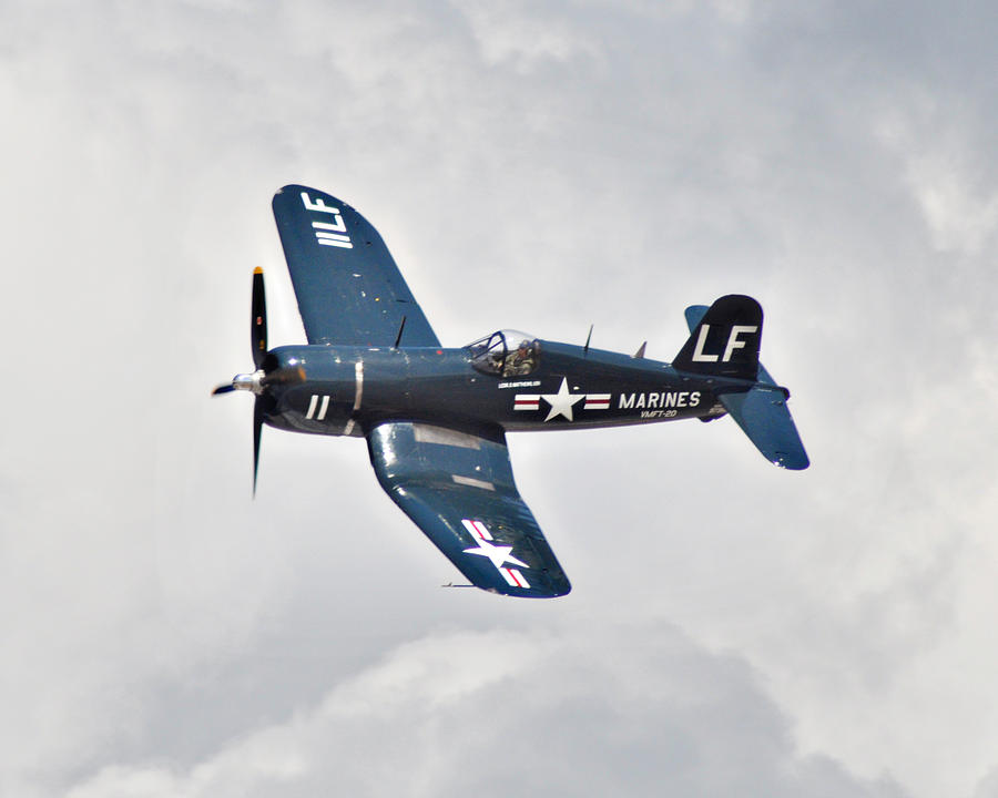 Fighter Photograph - F4 Corsair by Mark Weaver
