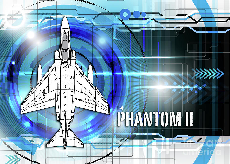 F4 phantom blueprint digital art by j biggadike f4 digital art f4 phantom blueprint by j biggadike malvernweather Gallery