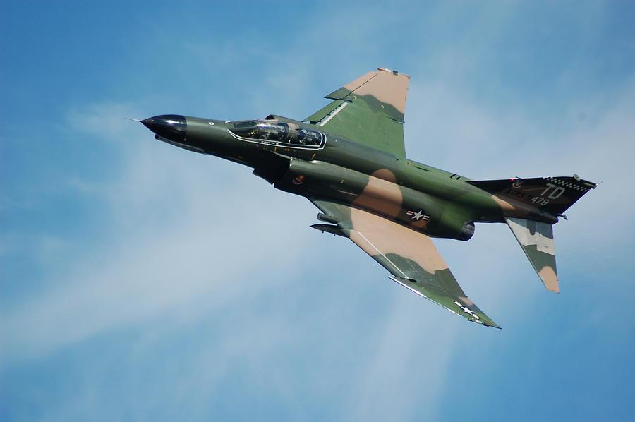 Fighter Photograph - F4 Phantom by Mark Weaver