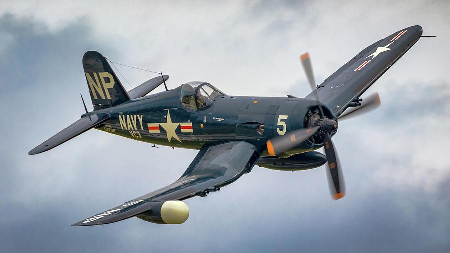 F4-u Corsair Photograph by Brian Caldwell
