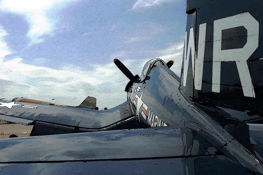 Propeller Photograph - F4-u Corsair by Jame Hayes