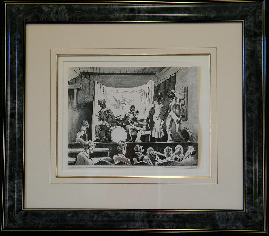 Thomas Hart Benton Drawing - F7 Minstrel Show by Thomas Hart Benton