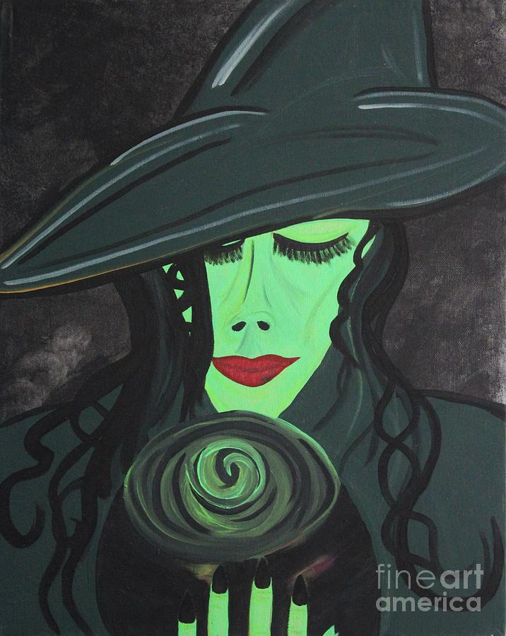 Wicked Witch Painting - Fabala by LKB Art and Photography